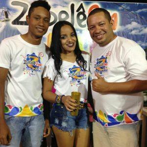 Zabelê FM - Dj Ernandes MS, Andressa Duque e Alessandro Paes Landim integrantes da equipe Zabelê FM.